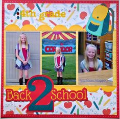 Image result for scrapbook layout for 6th grade