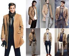 Tan overcoat.