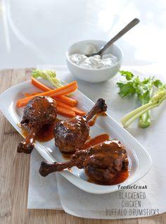 Blackened Chicken Buffalo-Drumsticks. A three-napkin treat! (@ Foodie Crush)