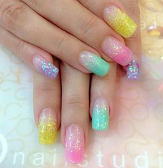 26 Best Easter Acrylic Nail Art Images Easter Nail Designs Pretty