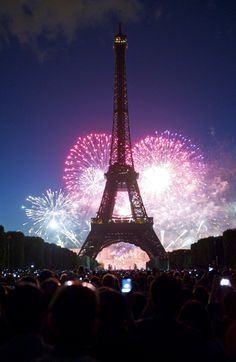 Every year on July 14th, Paris celebrates it's independence day, Bastille Day. It's also my birthday! One day I will see this celebration! :)