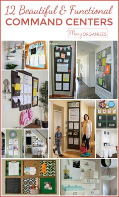 Organization Calendar Command Centers - 12 Beautiful & Functional Command Centers to Inspire Family Organization Wall, Family Organizer, Office Organization, Bathroom Organization, Organizing Ideas, Financial Organization, Organization Station, Command Center Kitchen, Family Command Center