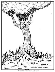 smacs surrealistic coloring page tree spirit man