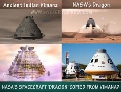 Nasa's Spacecraft Dragon copied from Ancient Indian Vimana?