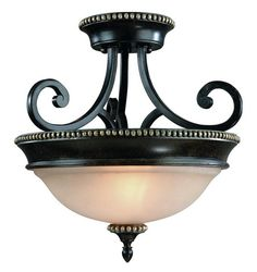 ~~~ Study ~~~ Two Light Phoenix Bowl Semi-Flush Mount : 1754-148 | Connecticut Lighting Centers