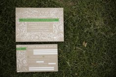 Screen Printed Wedding Invitations With Rustic Floral Motif-1
