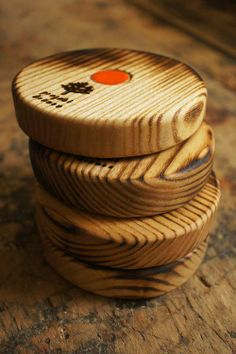 wooden cup pads by Projekt Drewno