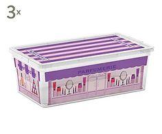 Set de 3 cajas de almacenamiento Boutiques - S