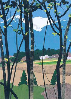 Uchida Masayasu-The World of Sticking Art Japanese Art Modern, Japanese Landscape, Japanese Prints, Japanese Textiles, Illustrations, Photo Illustration, Graphic Illustration, Korean Art, Japanese Painting