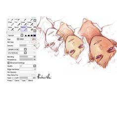 sai brush by Raheel-ali on DeviantArt , digital art Digital Painting Tutorials, Digital Art Tutorial, Painting Tools, Art Tutorials, Drawing Techniques, Drawing Tips, Drawing Reference, Sai Brushes, Photoshop Brushes