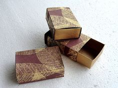 Packaging box,wedding favor box, Gift box -10 Gold Leaf print  match box , Jewelry Packaging Boxes