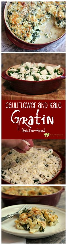 Gluten-Free Cauliflower and Kale Gratin from EricasRecipes.com