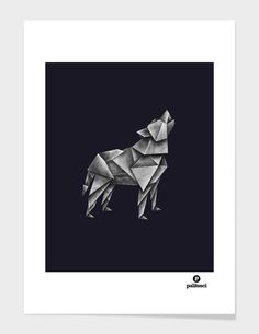 """Wolfgami"" - Numbered Art Print by Lucas Scialabba on Curioos"