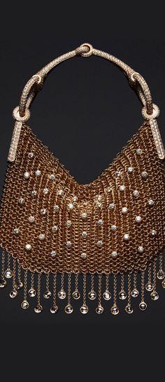 INSANE!!!!  Nausicaa sac-bijou in rose gold, with 1,811 diamonds at 28.87ct.