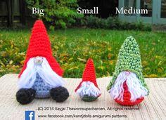 Sayjai amigurumi crochet patterns ~ K and J Dolls / K and J Publishing: Little Gnomes with Mushroom Houses: New Amigurumi crochet pattern