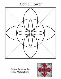 Celtic Stained Glass Patterns   Free Stained Glass Pattern 9001-Celtic Flower :: Patterns By Diane ...