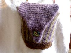 Striped Felted Bag by Annefesto on Etsy, $40.00