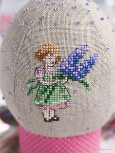 cross stitch: Love this little girl holding lavender/flowers Cross Stitch Owl, Cross Stitch Fairy, Cross Stitch For Kids, Cross Stitch Flowers, Cross Stitch Designs, Cross Stitching, Cross Stitch Embroidery, Cross Stitch Patterns, Knitting Patterns