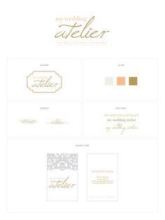 My Wedding Atelier | branding design by San Wanshan Huang. hellosansan.com