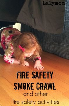 3 Fire Prevention Week Activities on - Set up this easy fire safety activity for kids to get them practicing crawling under pretend smoke- how smart! Fire Safety For Kids, Fire Safety Week, Preschool Fire Safety, Family Safety, Fire Kids, Child Safety, Montessori, Fire Prevention Week, People Who Help Us