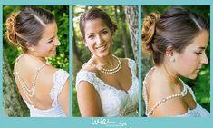 Backdrop Necklace-Pearl Necklace-Back Drop por dreamdaydesign