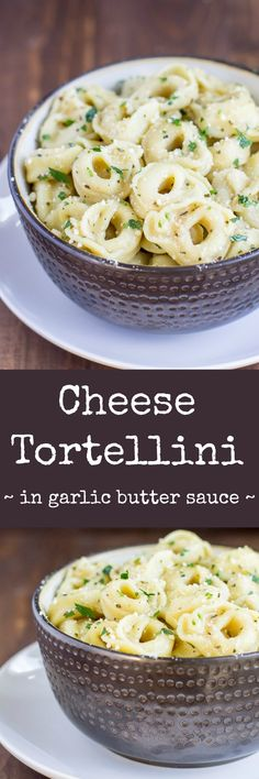 Piping hot Cheese Tortellini served in a delicious garlic butter sauce. It's simple yet special, an easy appetizer that everyone will love! via @culinaryhill