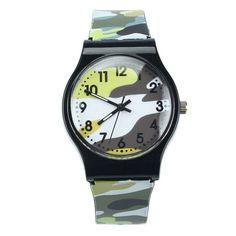 Hot Kids Boys Camouflage Wrist Watches Children Girls Silicone Band Strap Quartz wrist watches Good-looking AU 9