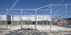 Completed in 2014 in Barcelona, Spain. Images by Adrià Goula . The new Baró de Viver Civic Centre is the first LEED Platinum certified Social Facility building for new construction in Spain.  In a neighbourhood...