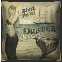 Vintage The Black Pearl Oyster Lounge Pillow