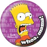 The Simpsons: Bart (Whoa, Mama!) (25mm Pin Button Badge)