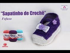 Sapatinho de Crochê Fofuxo - Cléa - Professora Simone - YouTube