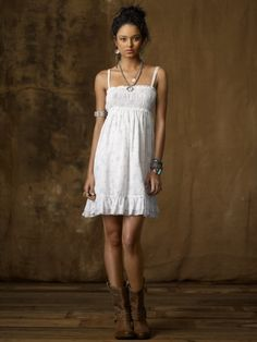 love this!!!!! Cotton Floral Smocked Sundress - Denim & Supply  Sale - RalphLauren.com