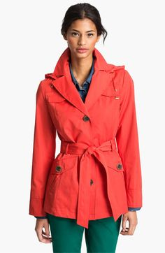 Great color and a no-nonsense shape. Also available in khaki. (Ellen Tracy Short Trench Coat –Nordstrom Exclusive– available at Nordstrom)