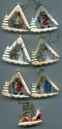 Boxed Western Germany Ornament Set...
