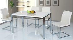 Τραπεζαρία Relax | Dining table Relax #home #homedecor #interiordesign #furniture #diningroomideas #diningroom #diningtableset #table #set #metal #chrome