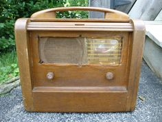 Vintage Philco 41-844 Wood Roll Top Tube Radio Parts Repair