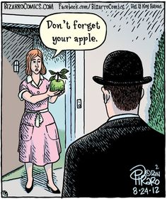 Magritte, Don't forget your apple. bz panel 08-24-12