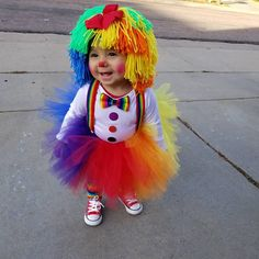 Clown Costume Halloween Costumes Baby Hat Baby Girl Clown Wig Pageant Clothes Colorful Wig Toddler Costume Photo Prop Dress Up Clothes Kids Unique Toddler Halloween Costumes, Cute Baby Costumes, Baby Girl Halloween Costumes, Halloween Outfits, Halloween Kids, Toddler Clown Costume, Girl Clown Costume, Clown Wig, Baby Girl Hats