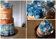 image002 Vintage Rosen, Rose Cake, Candle Holders, Copper, Candles, Desserts, Blue, Food, Birthday Cake Toppers