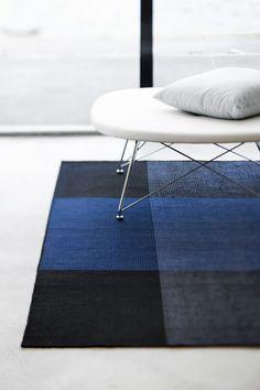 Bologna rug, blue by Linie Design