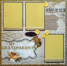 12x12 scrapbook layouts | 12x12 Premade scrapbook layout Our Grandparents by ntvimage