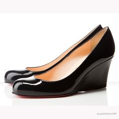 Christian Louboutin Round-Toe Wedge Pumps clearance websites discount top quality Nt48R
