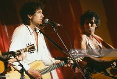 Jul 13,1985 Bob Dylan and Keith Richards  'Live Aid' concert, the proceeds of which will help relieve hunger in Ethiopia.