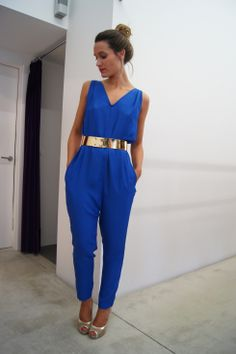 Stunning in Cobalt blue Fiesta Outfit, Picture Outfits, Evening Outfits, Blue Jumpsuits, Tulum, Beautiful Outfits, Spring Outfits, Party Wear, Fashion Looks