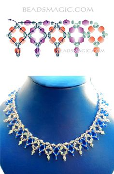 Free pattern for necklace Sky Light   Beads Magic