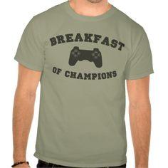 Video Games, Breakfast of Champions T-shirt http://www.zazzle.com/video_games_breakfast_of_champions_t_shirt-235712114546574181?rf=238955018851999137