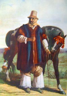 Gaucho Federal Buenos Aires óleo 1842
