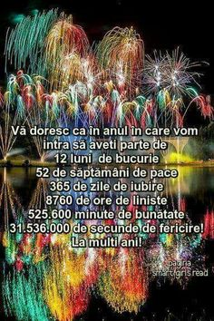 An Nou Fericit, I Miss You, Spiritual Quotes, Motto, Happy New Year, Happy Birthday, Holiday, Messages, Fine Dining