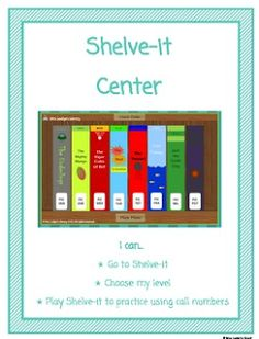 The Centered School Library: Library Freebie Friday Shelve It Game