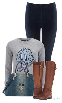 """""""Sunday Evening"""" by ksims-1 ❤ liked on Polyvore featuring M&Co, Love Moschino, GUESS and Naturalizer"""